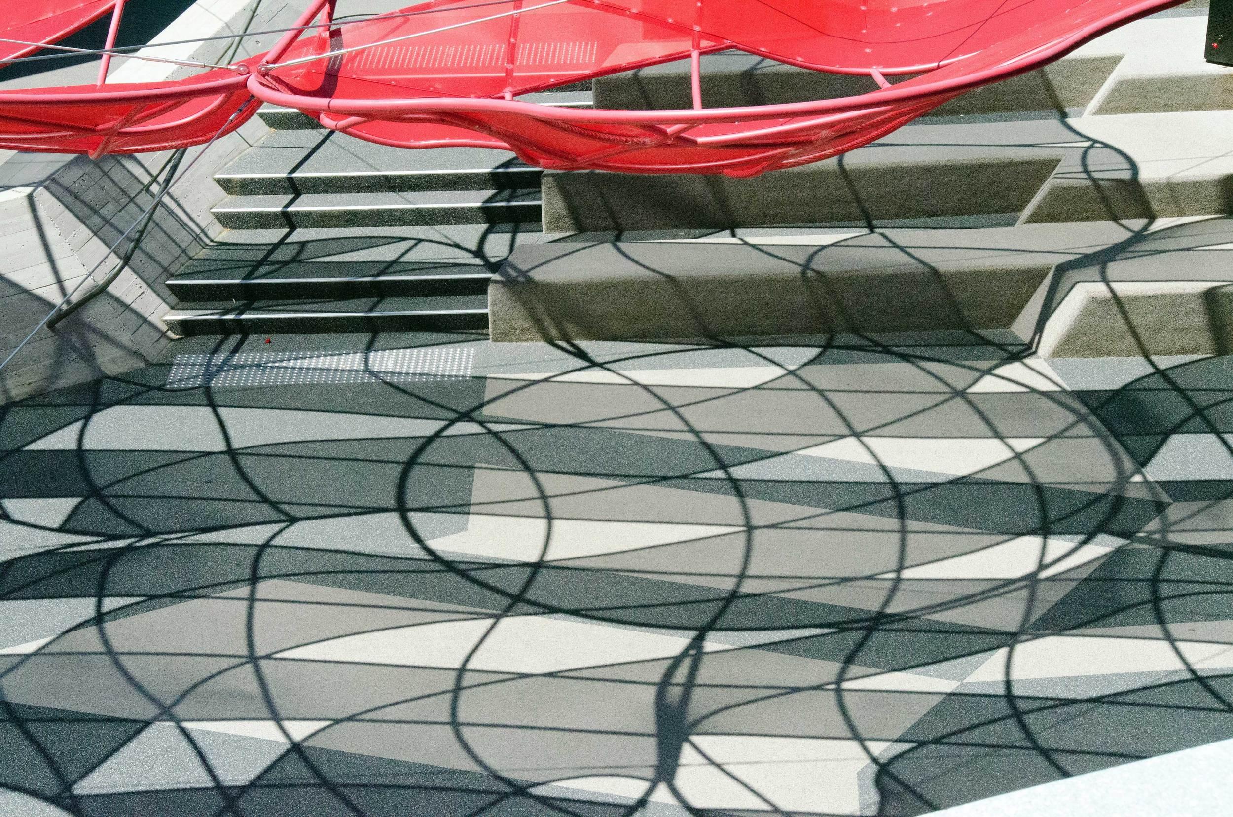 Poppy Umbrella in Shrine of Remembrance Courtyard - Melbourne, Australia