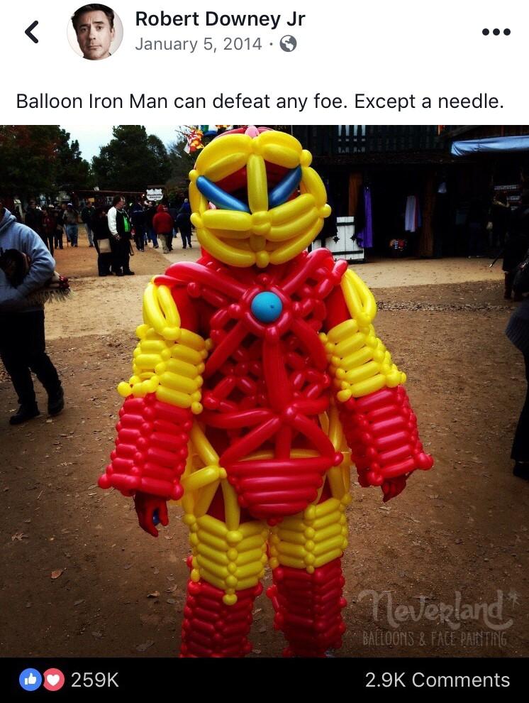 Balloon Iron Man Costume