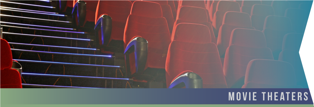 "Movie Theaters   Try as they might, employee ""spot cleaning"" between shows usually leaves something to be desired. Without a proper deep cleaning each night, movie theaters begin to have a dirty smell and feel that can lose recurring business for your company."