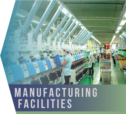 Manufacturing Facilities   Countries of origin and exportation alike have enacted stringent laws in order to conduct business. Compliance is constantly monitored by local or foreign authorities.