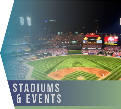 Stadiums & Events   One thing stadiums and major event venues have in common is that cleaning them promptly and thoroughly tends to be a challenge.