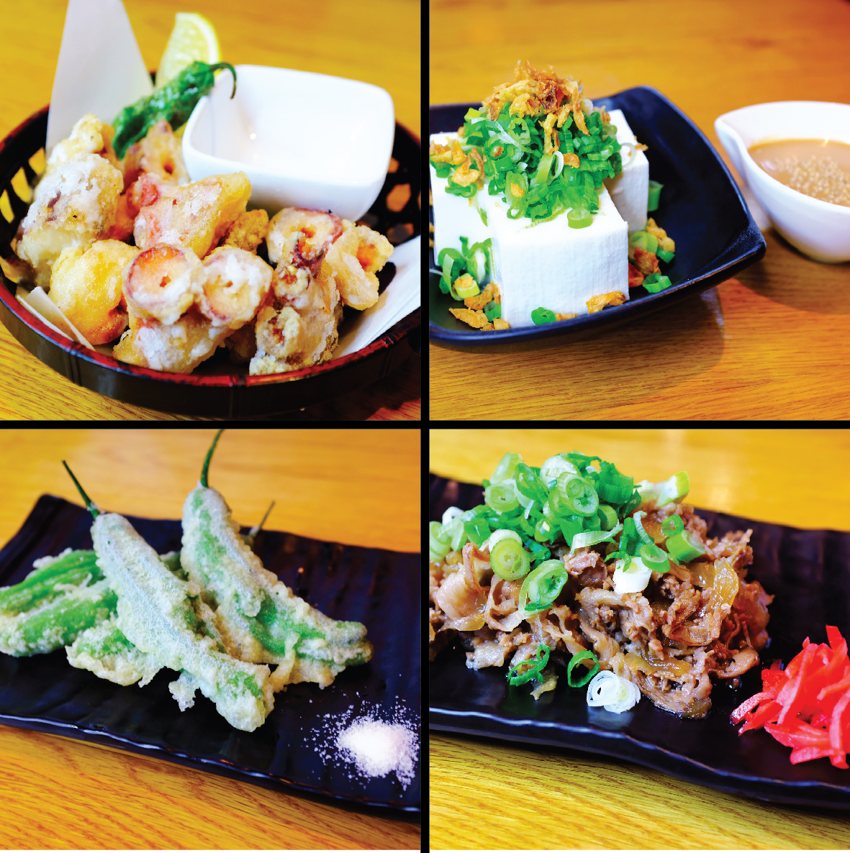 New Otsumami Menu - Otsumami Menu (To Go with Drinks)Fried Octopus $8Tofu with Sesame Sauce $7Shishito Tempura $6Guy-Zara ( Sukiyaki Flavor) $8*Midtown East Only