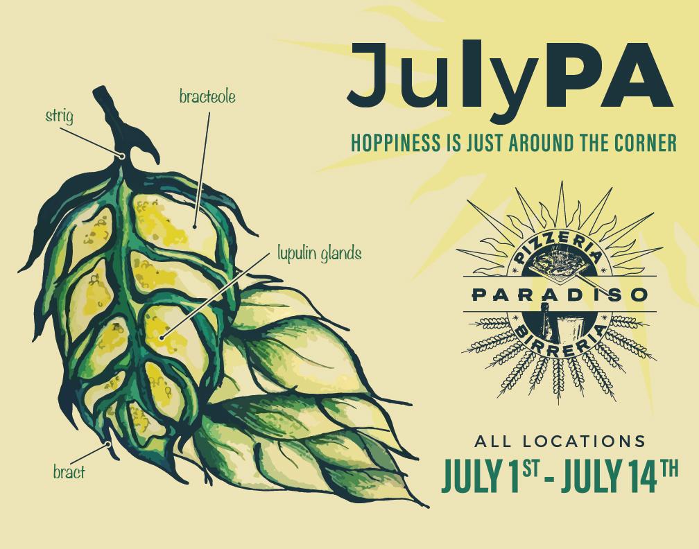 Pizzeria Paradiso's 10th Annual JulyPA