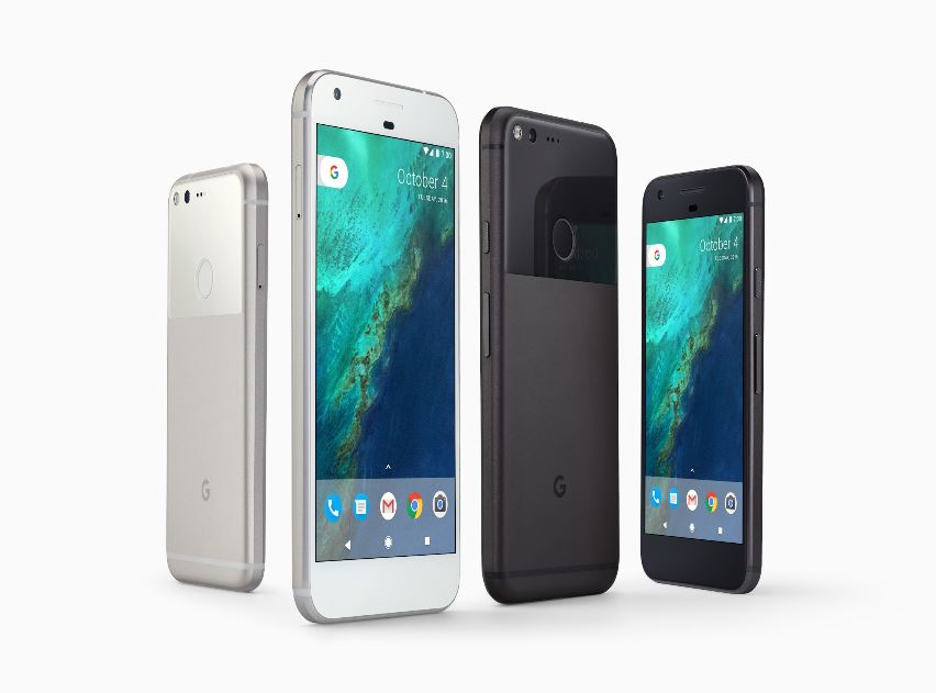 Google Pixel in Silver and Black. (Google)