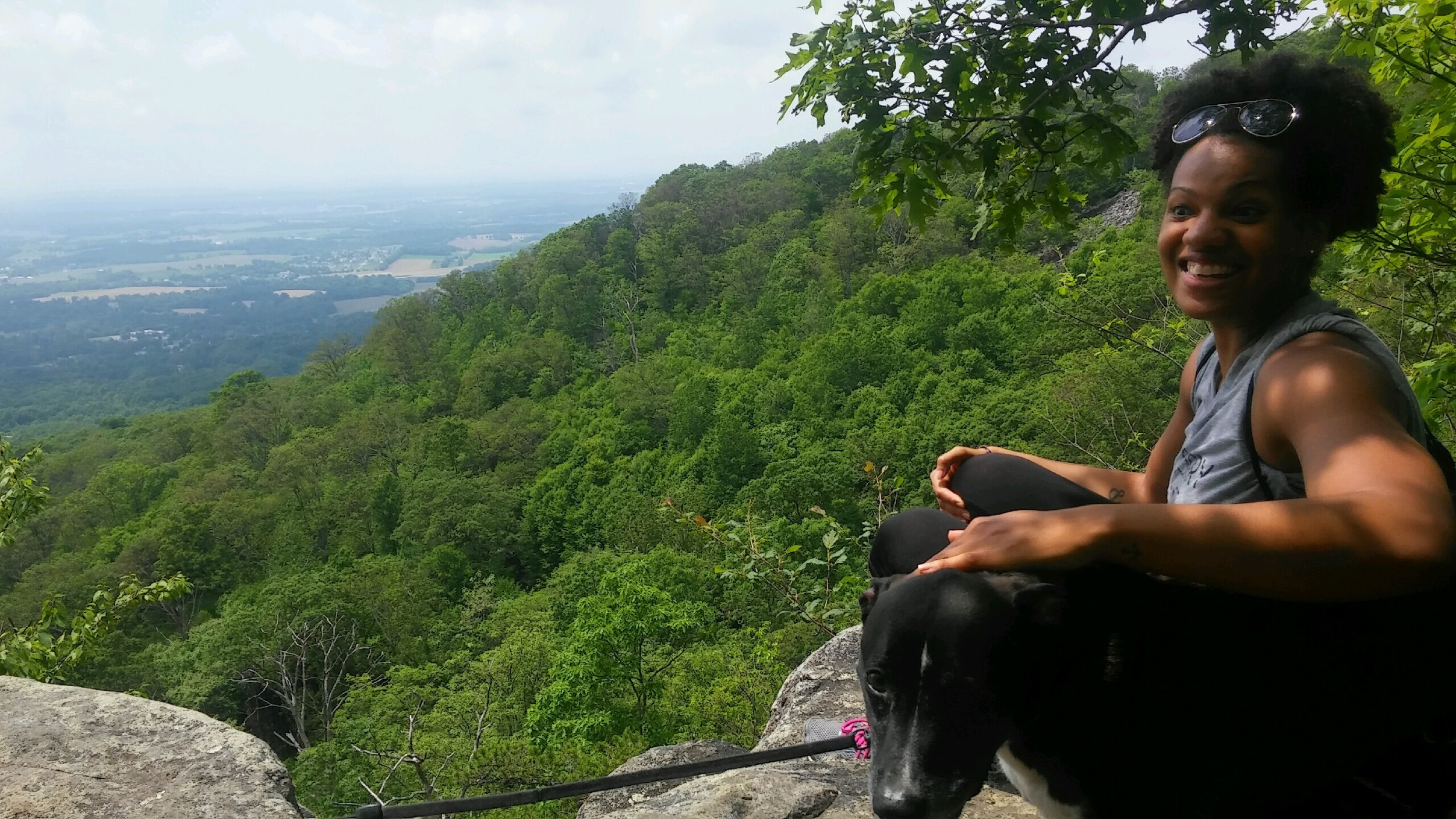 Sitting on Annapolis Rock after a 2.5 mile uphill trek.