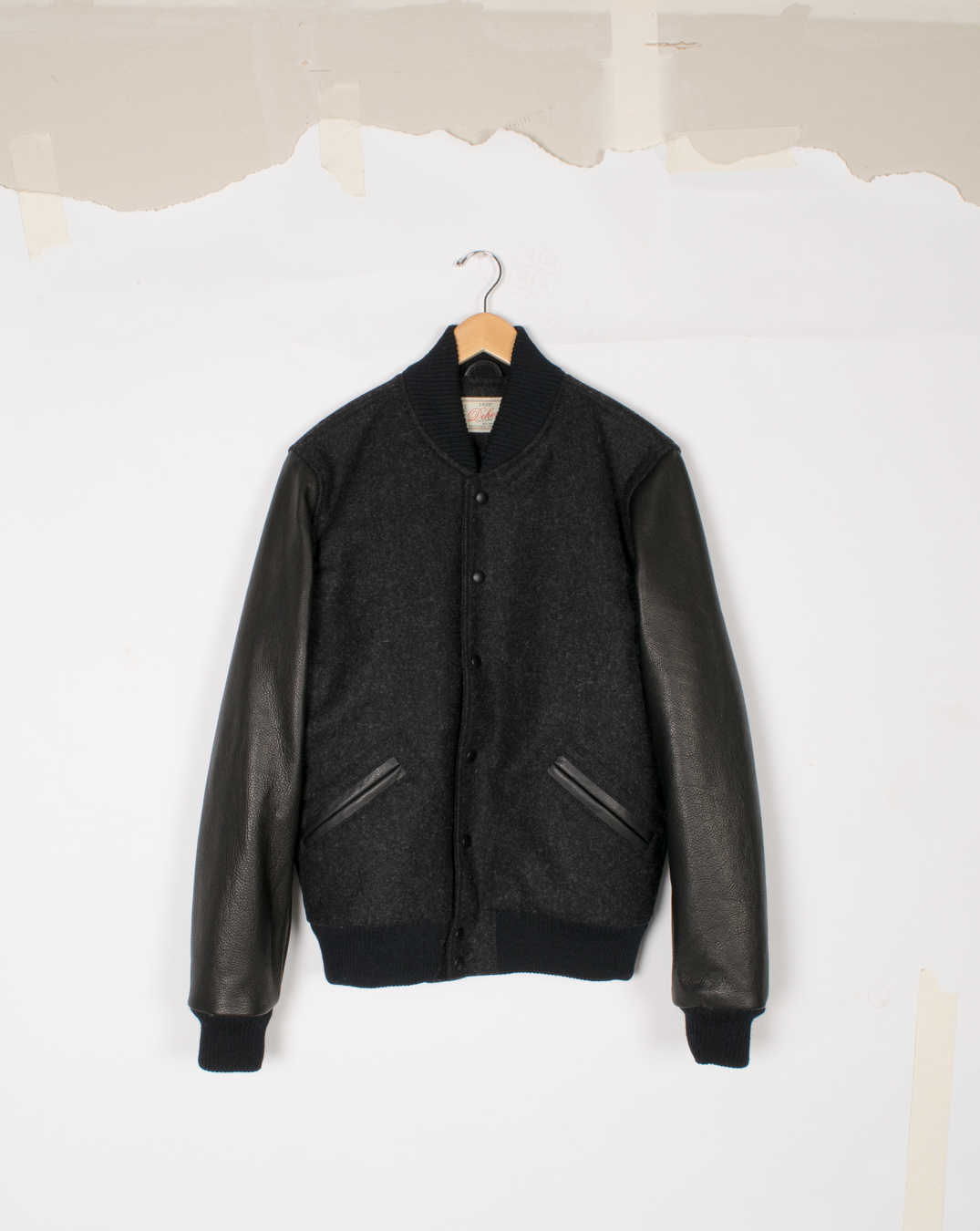 Varsity Jacket - Dark Charcoal/Black - $575