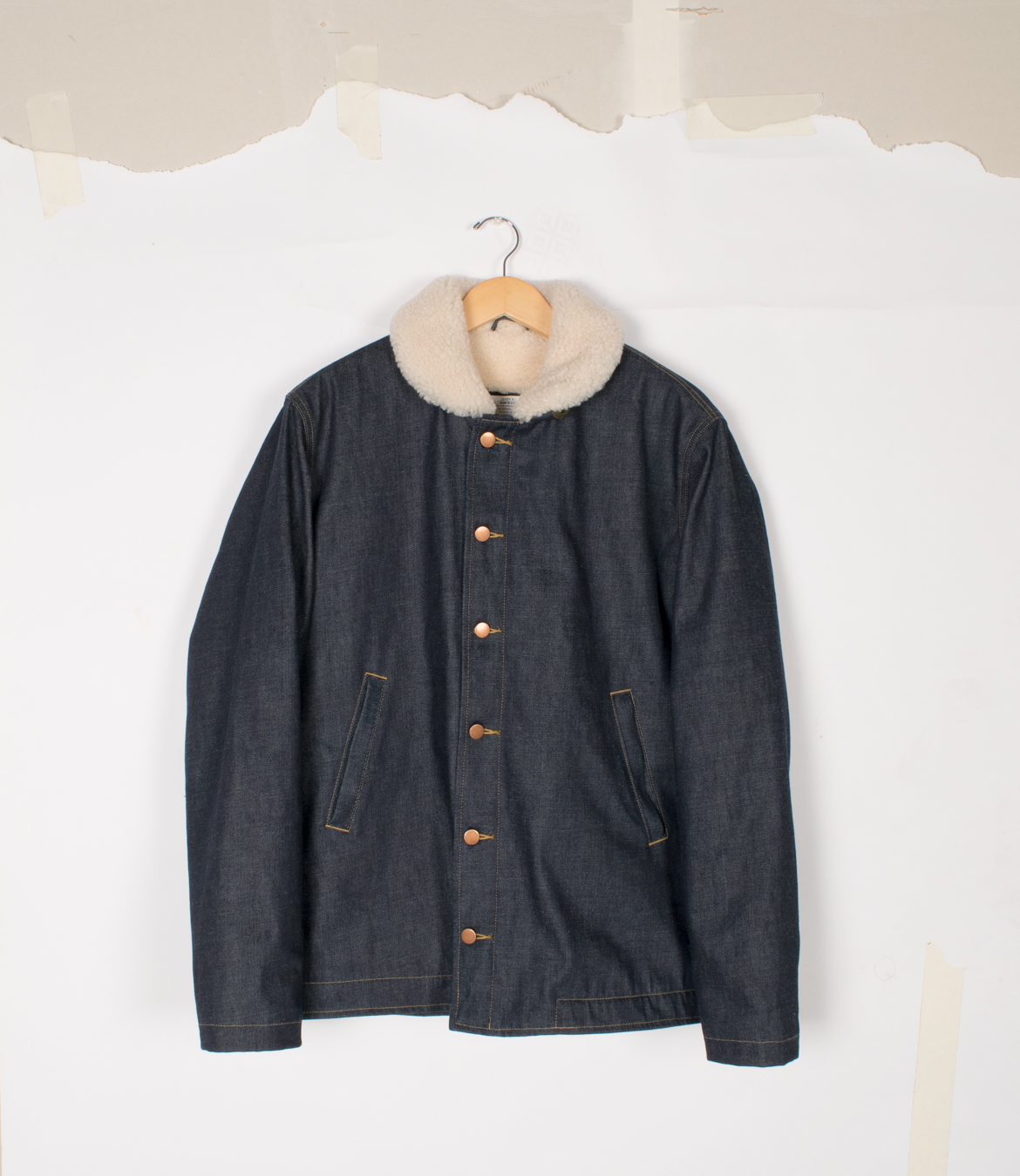 N-1 Deck Jacket - Selvedge Denim/Natural