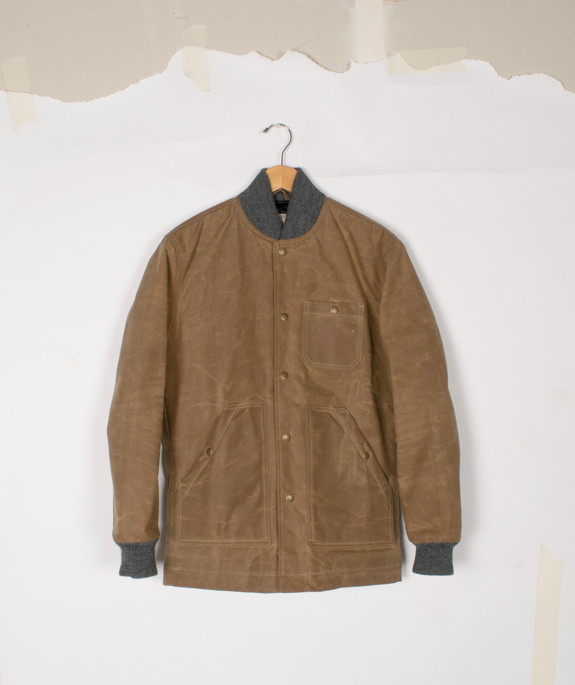 Ribbed Field Coat - Field Tan Waxed Canvas - $460