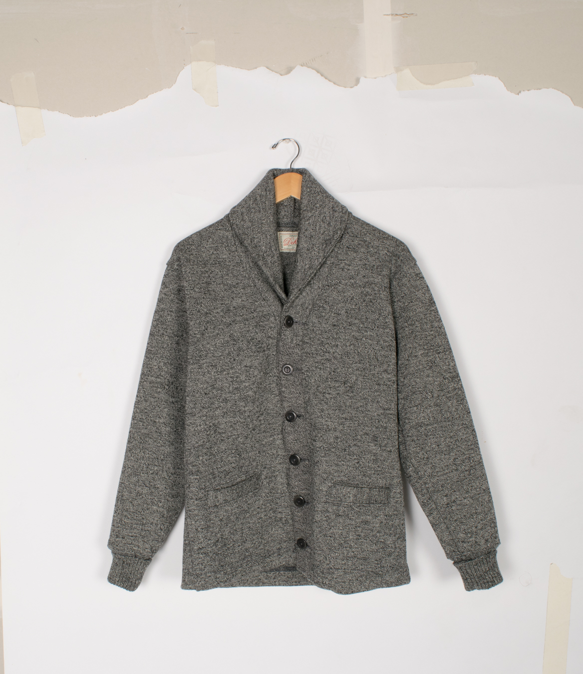 Shawl Sweater Coat - Salt & Pepper - $395