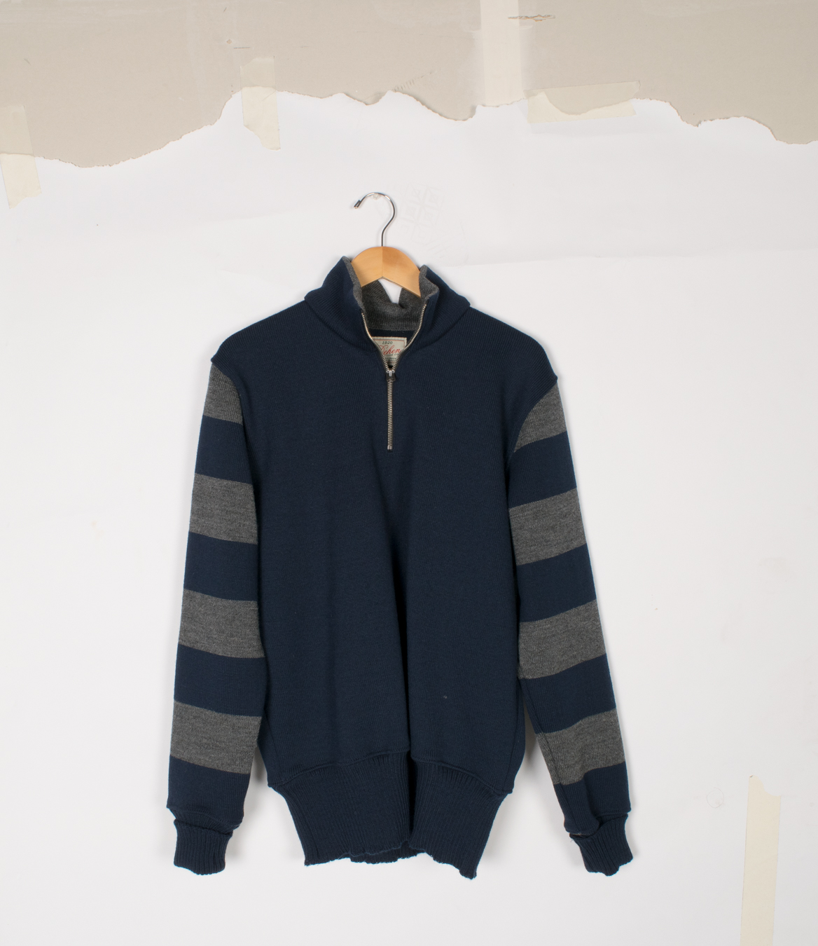 Motorcycle Sweater - Dark Navy/Charcoal - $295