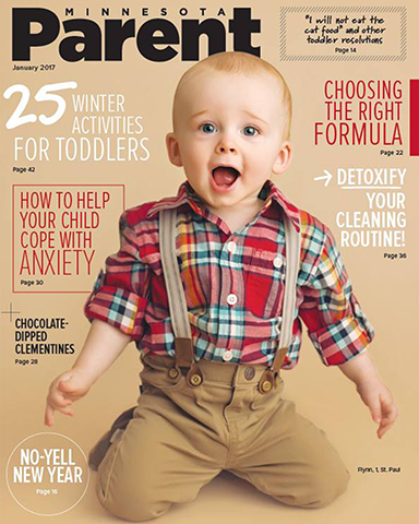 1 year photography session magazine cover Minnesota Parent