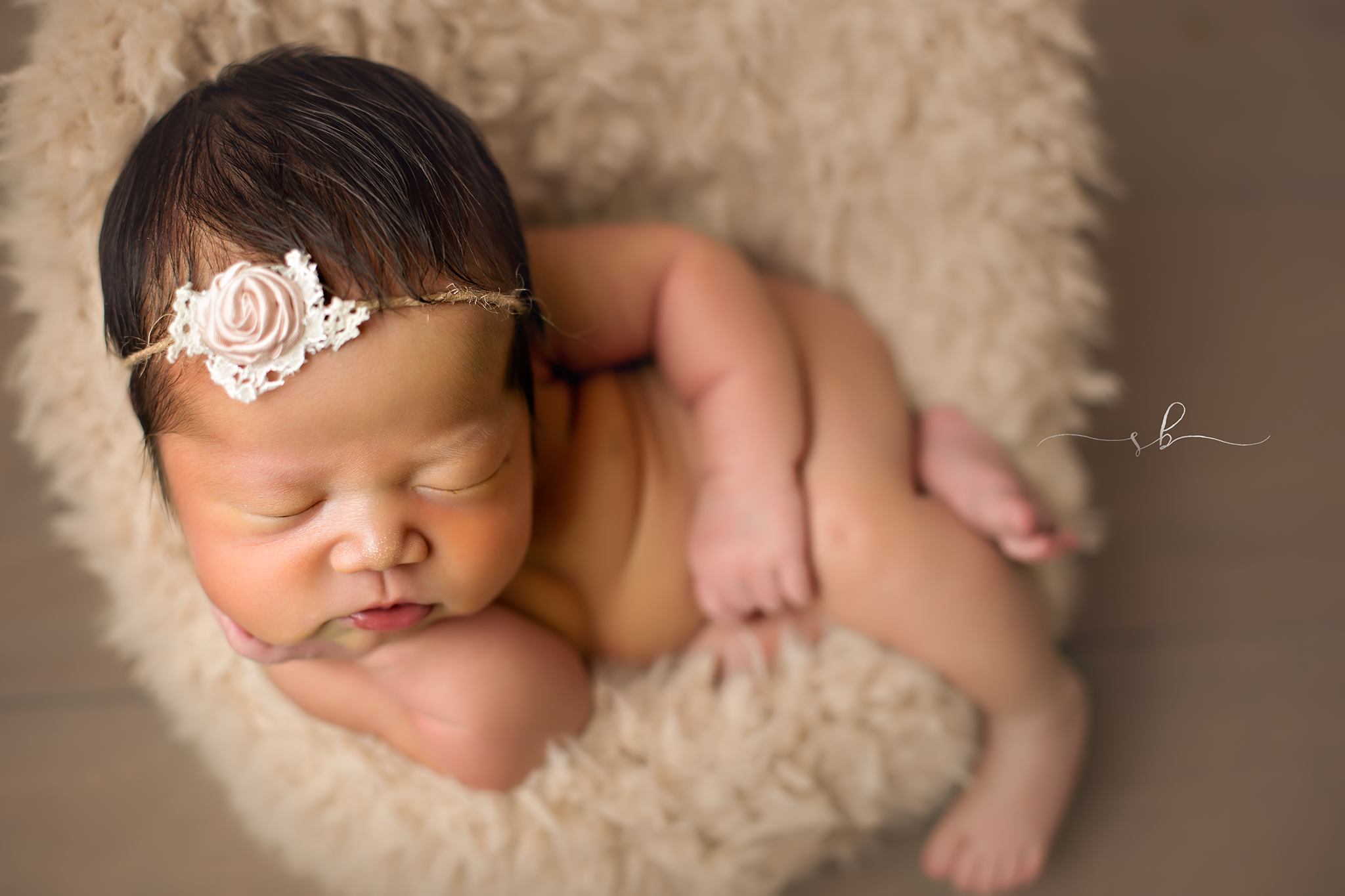 newborn posing pod
