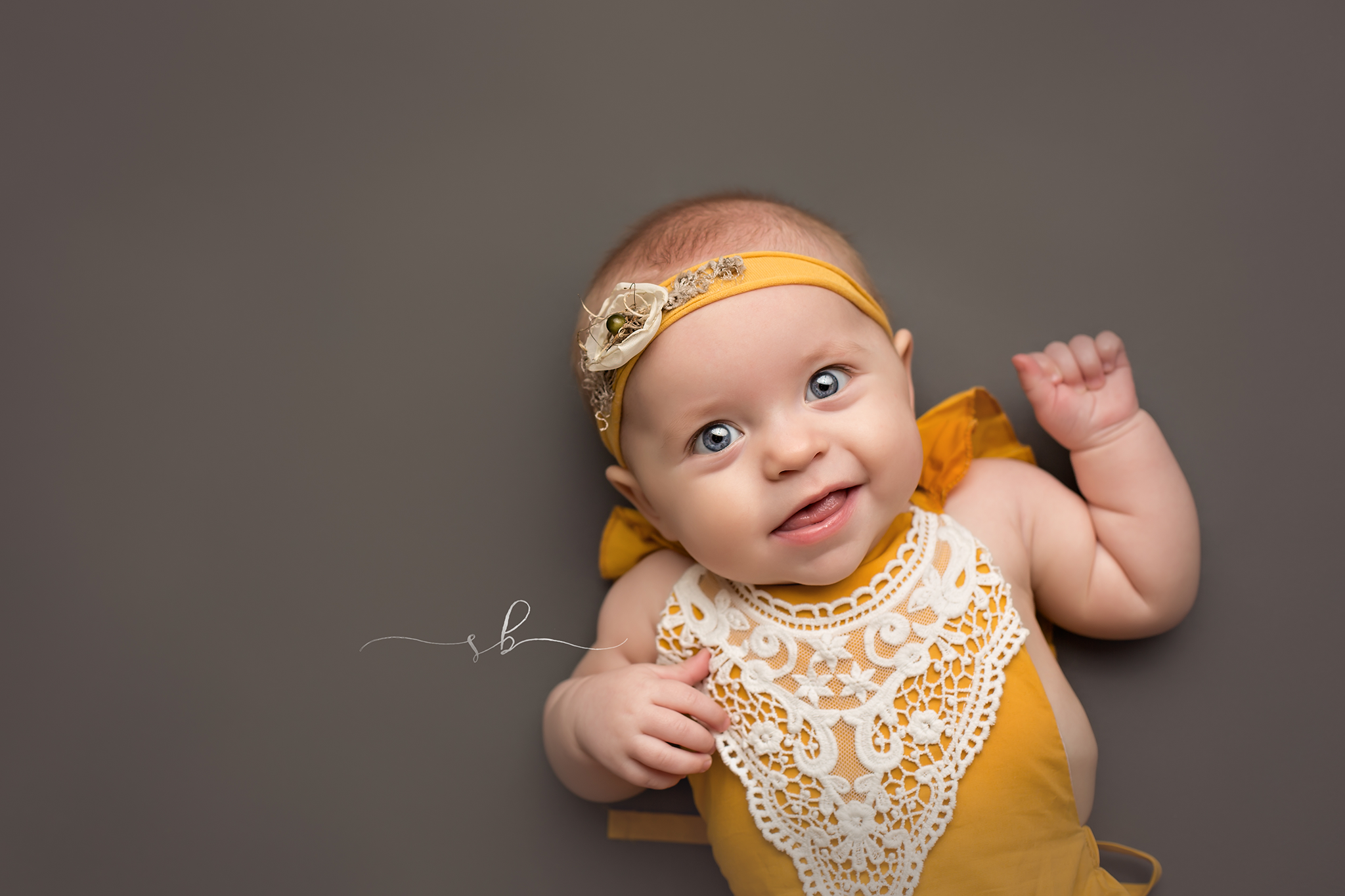 Smiling 6 month old