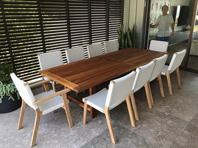 Teak table restoration for a Manly client. Three days of sanding and oiling bought this classic outdoor dining set back to life.
