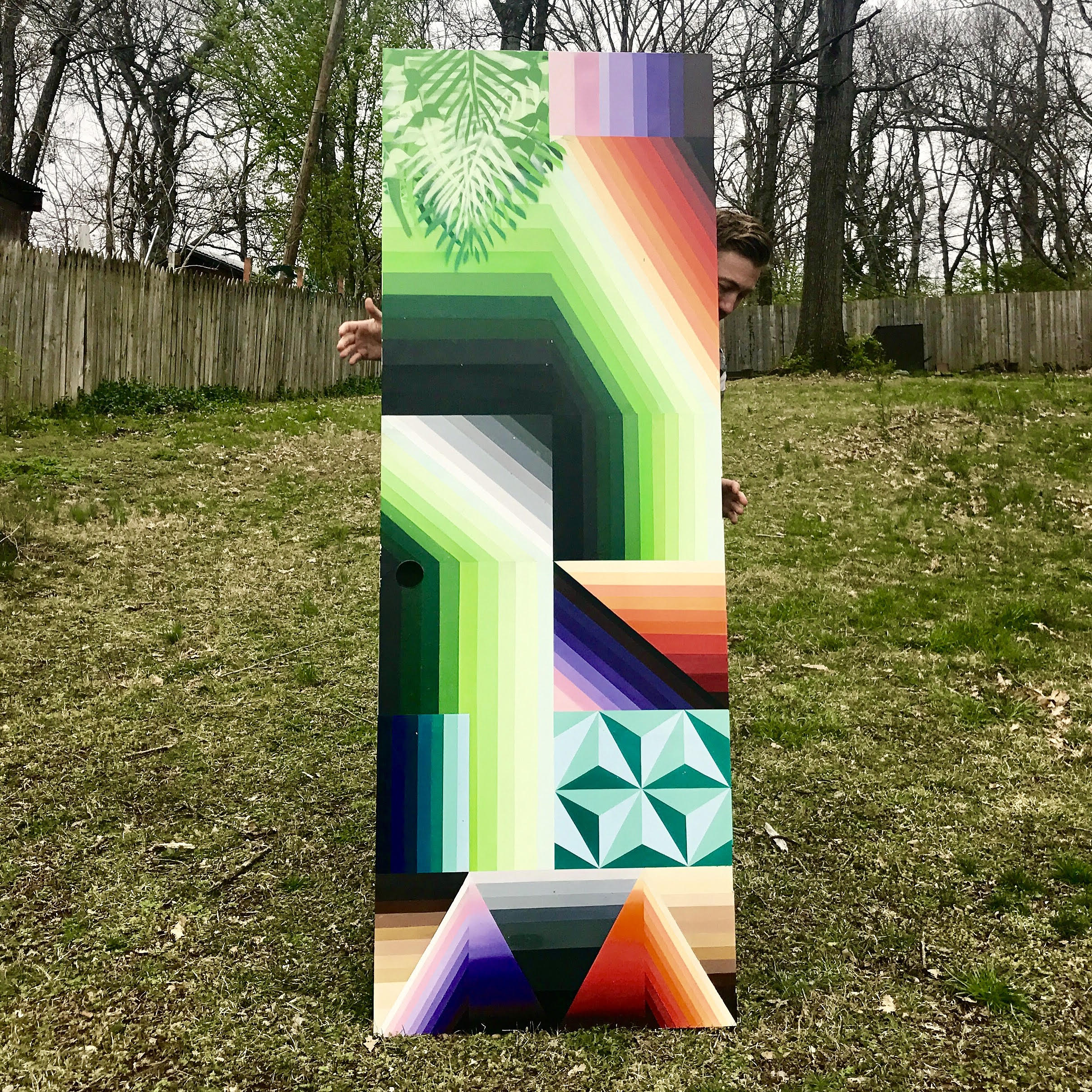 SOLD - SPRAY PAINT ON DOOR