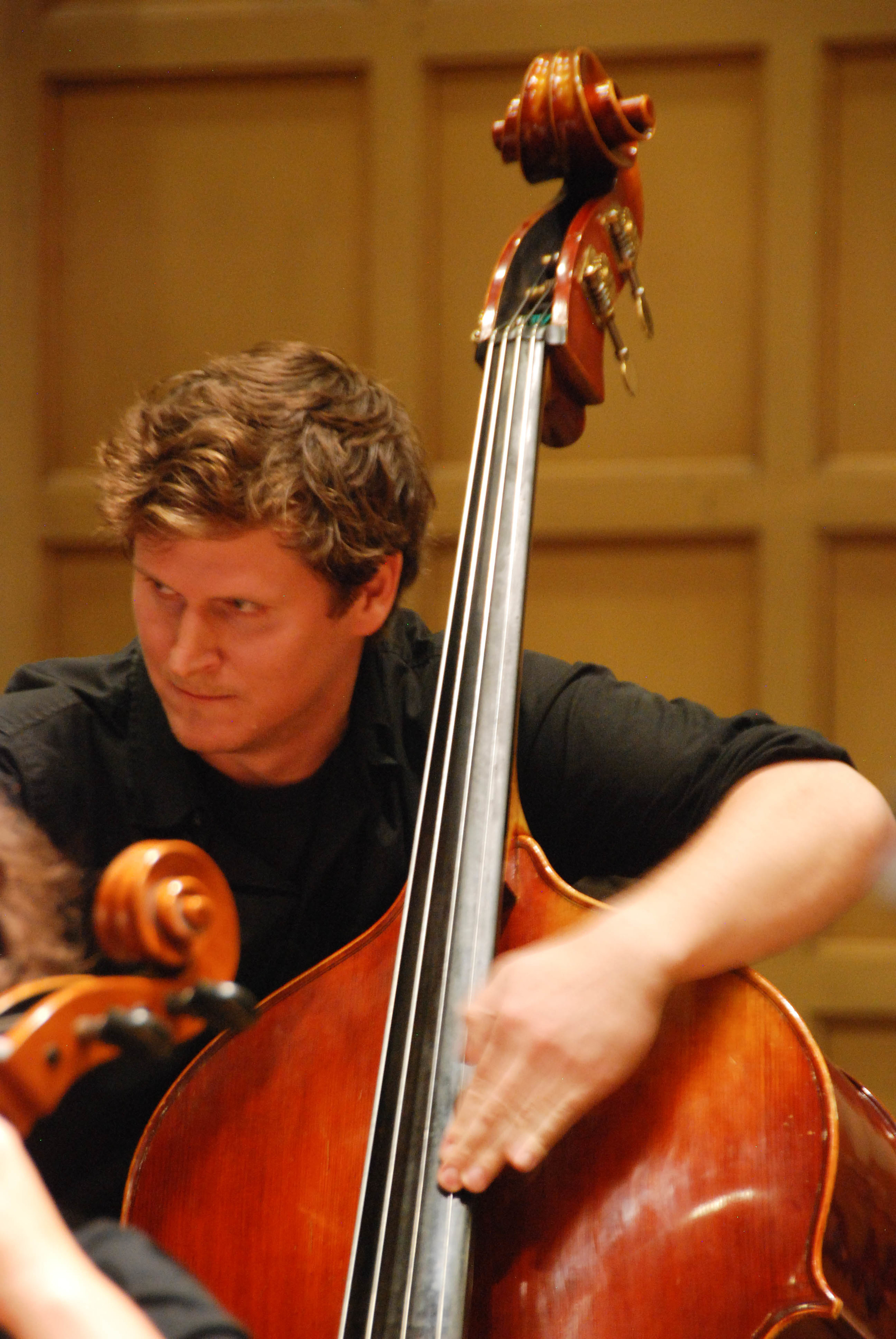 Bassist Ross Gilliland, September 19, 2014 at Chapel Performance Space
