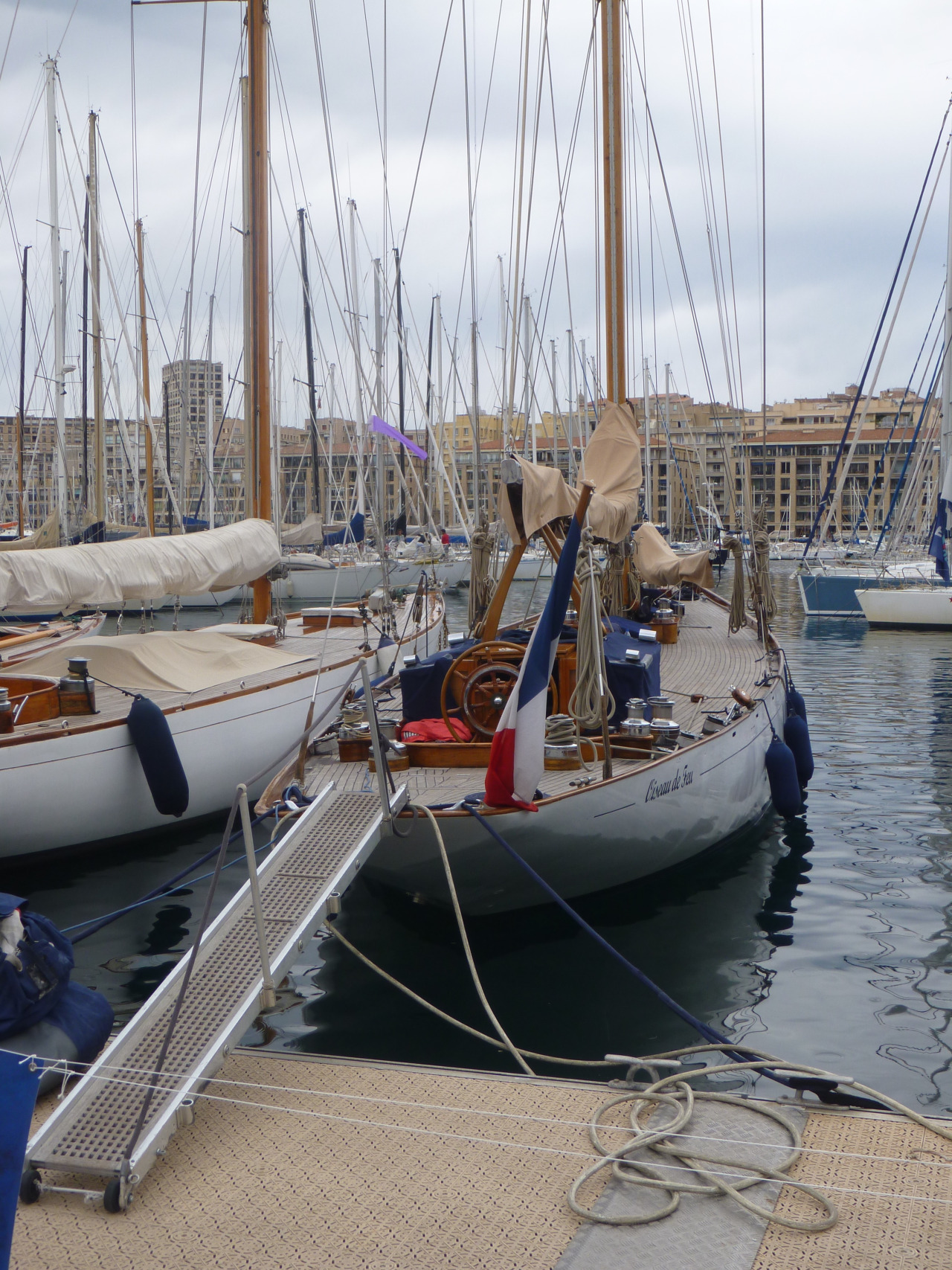 DAY 6  Catching a glimpse of the boats who have just participated in the Calanques Classique.