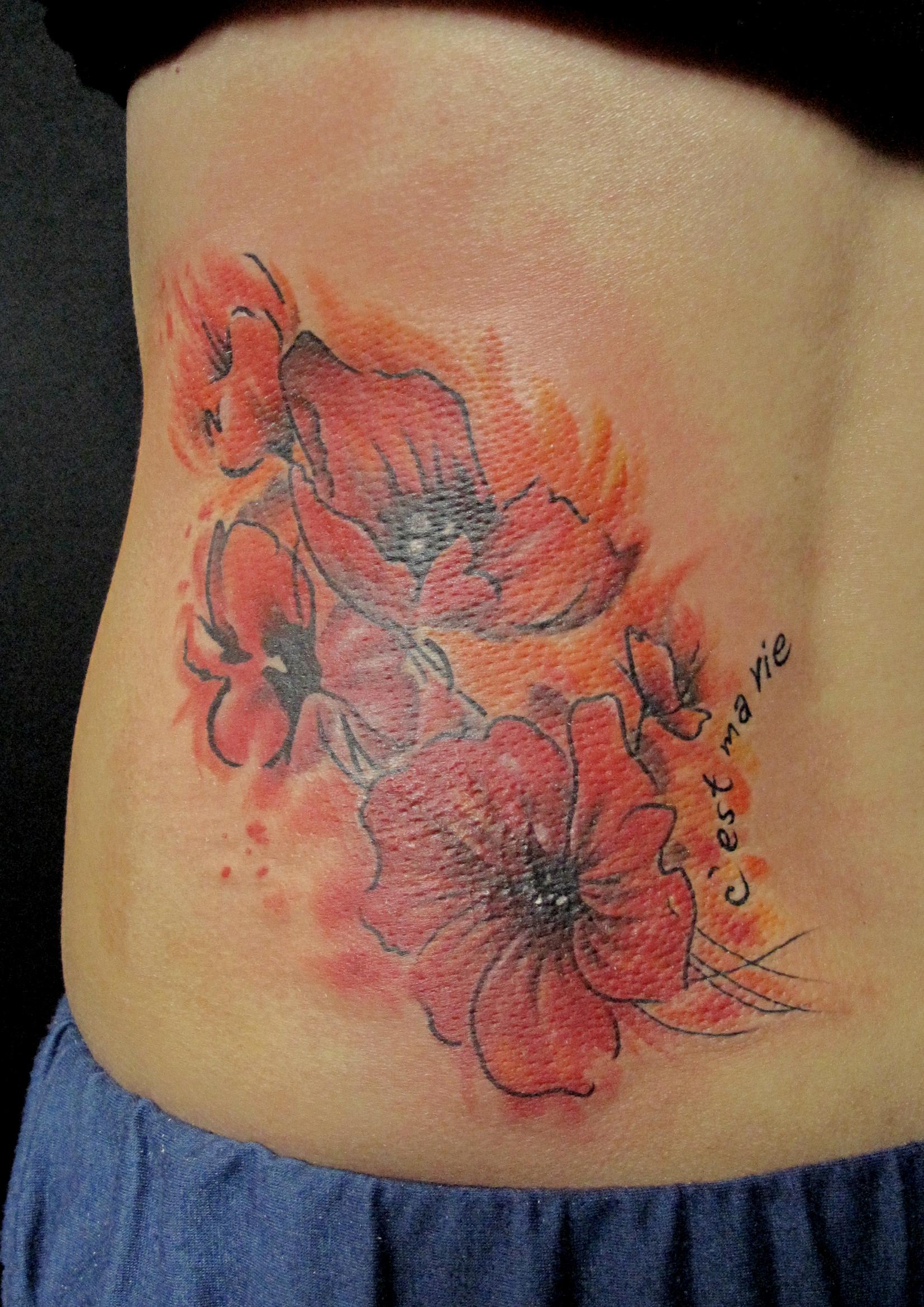 poppy flower on waist.jpg