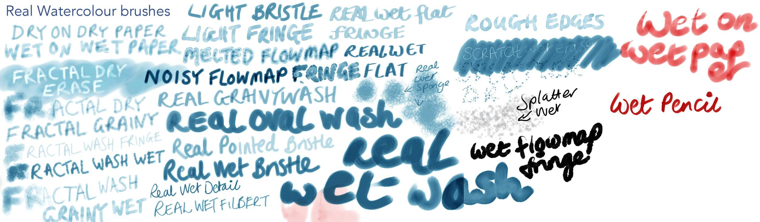 "Corel Painter 12 - ""Real Watercolour"" brush variants"
