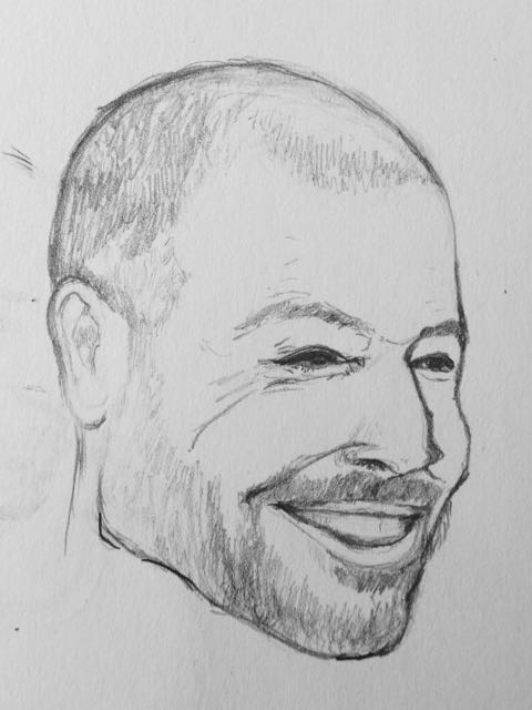 Groom's face sketch
