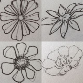 Flower design doodles