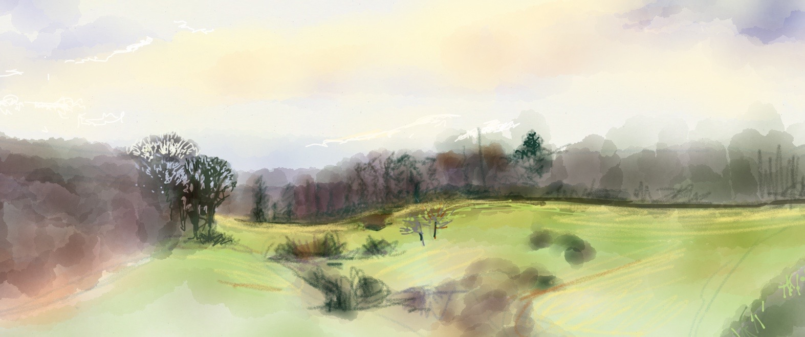 View from my Window, iPad sketch