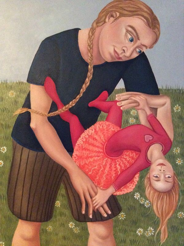 """I can't resist showing you one of Elza Scoble's delightful works - This one is """"Somersault"""""""