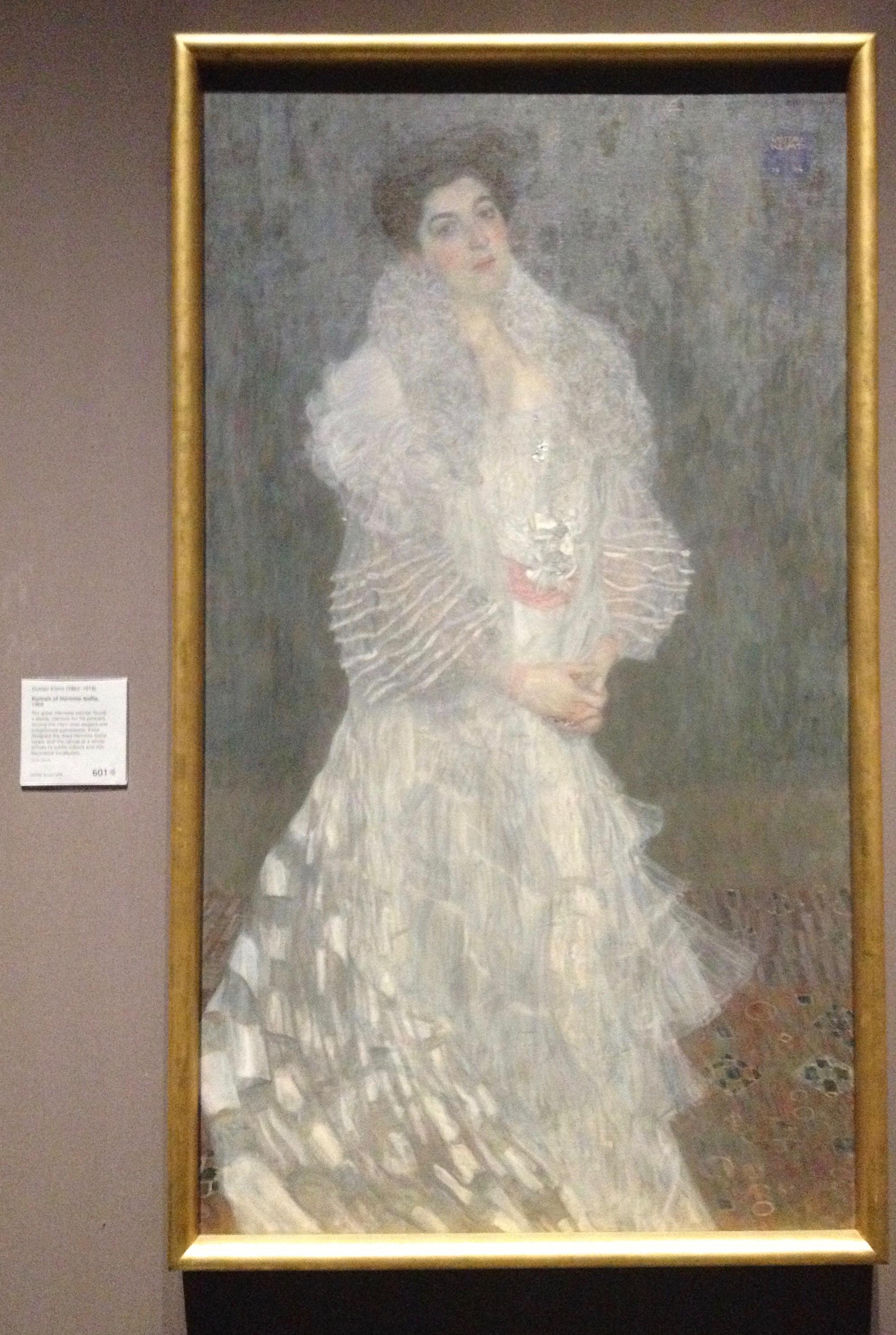 Gustav Klimt's  Portrait of Hermine Gallia, 1904
