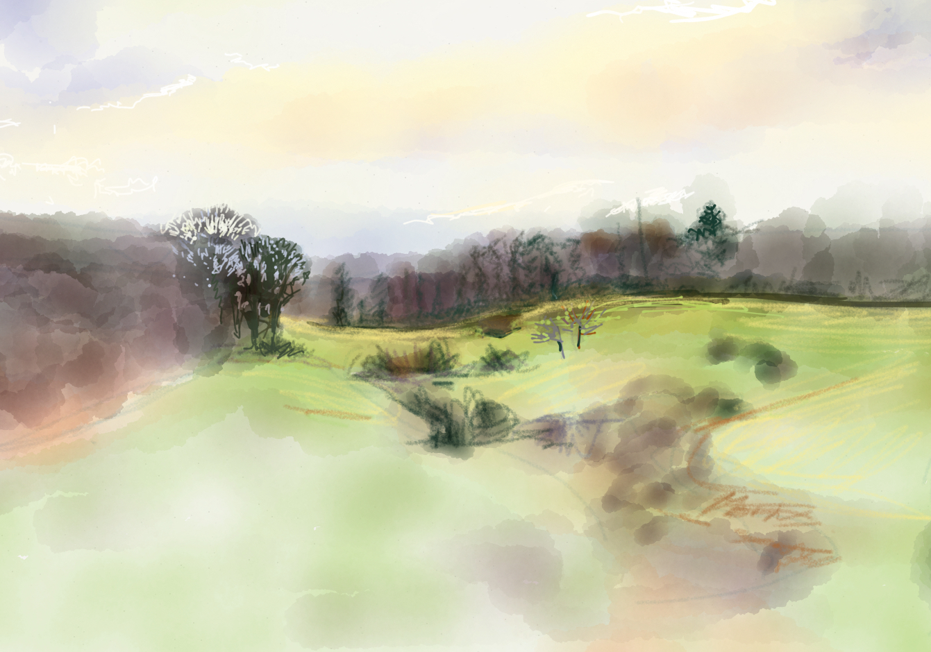 Ipad sketch, view from my window