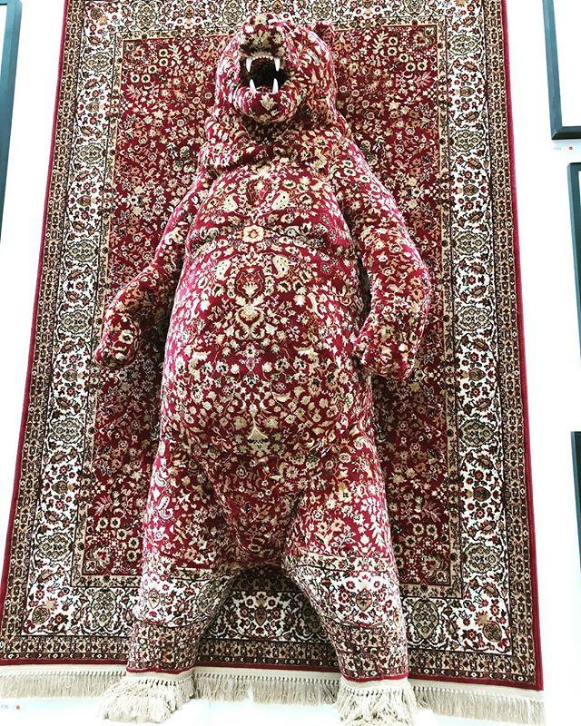 Snug as a bear... @royalacademyarts #summerexhibition2018 Red Bear, Debbie Lawson