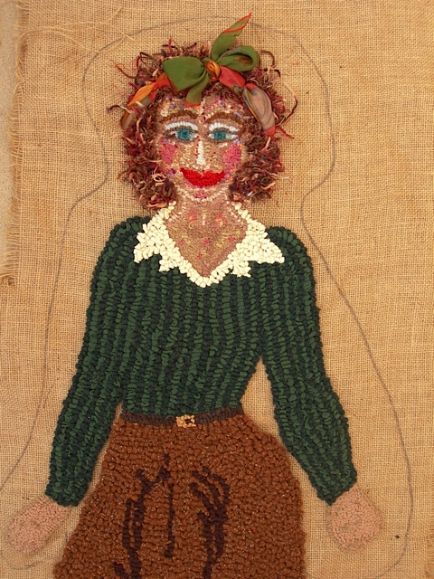 Olly Pickford's Cornish Land Girl rug in the making (credit: Olly Pickford)