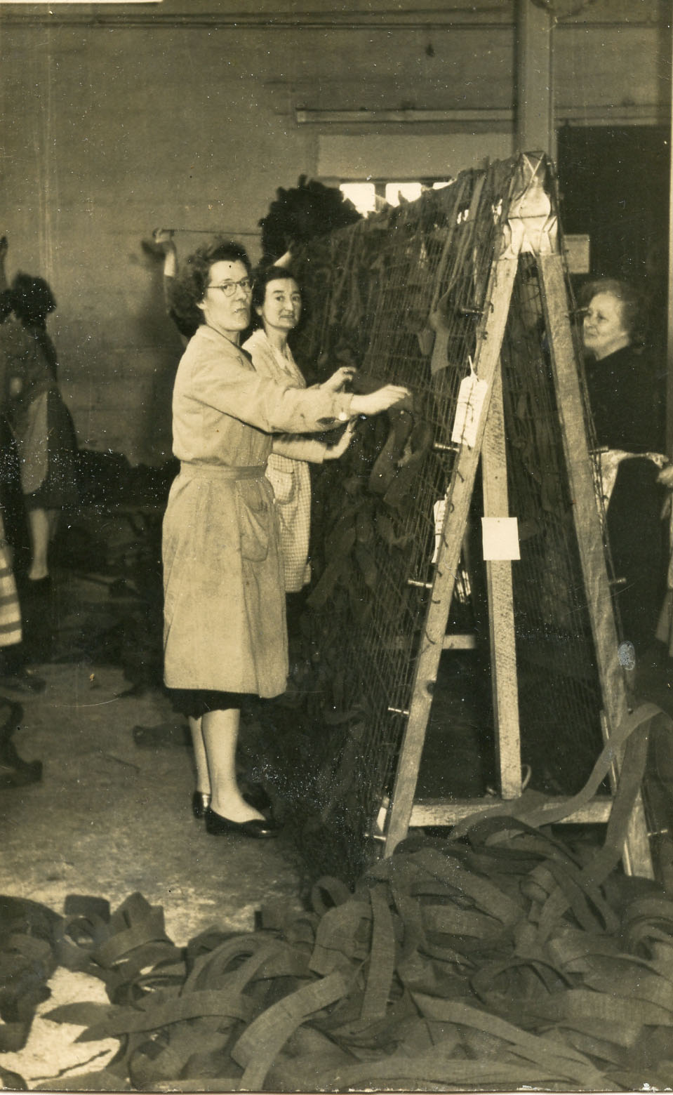 Women making camouflage nets at Hamptons factory on The Island, St Ives, during World War 2 (credit: St Ives Archive)