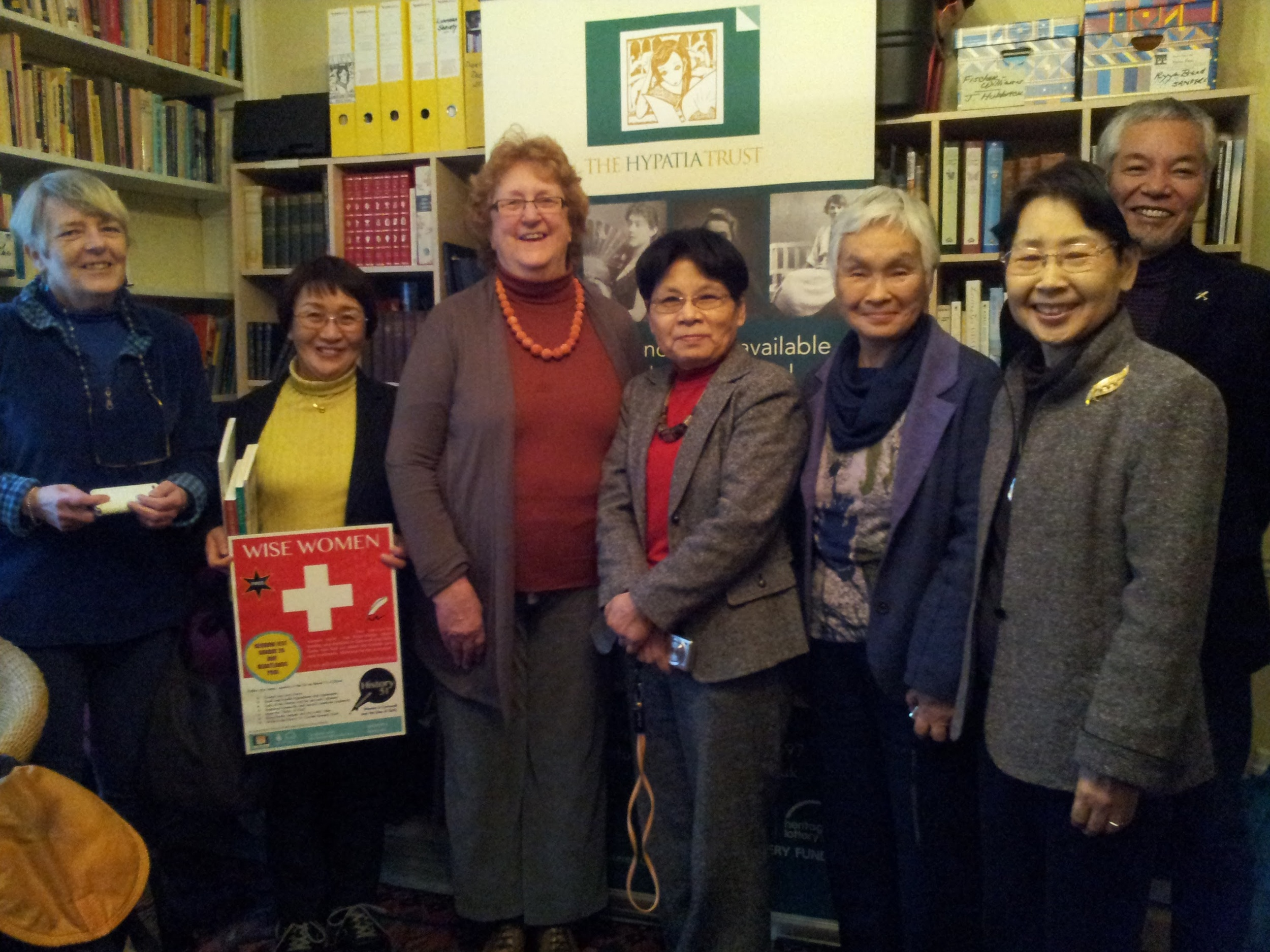 A visit from Japan (Left to right): Polly Attwood, Emi Nishiyama, Melissa Hardie, Mrsrko Hioki, Etsuko Yasukawa, Masako Hioki and Toshiro Sato.