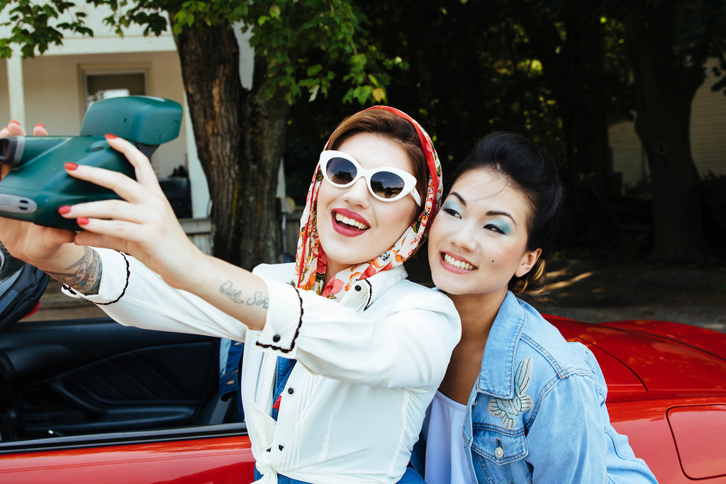 Thelma: Shae-Li LIang of  30th and Weldon . Louise: Tiffany Michael. Hair: Sarah Vitek. Makeup: Lisa Carr of LNC Beauty. Wardrobe Styling: Megan Larkin. Special thanks to Jason Bengson for allowing us use of his car for the shoot!