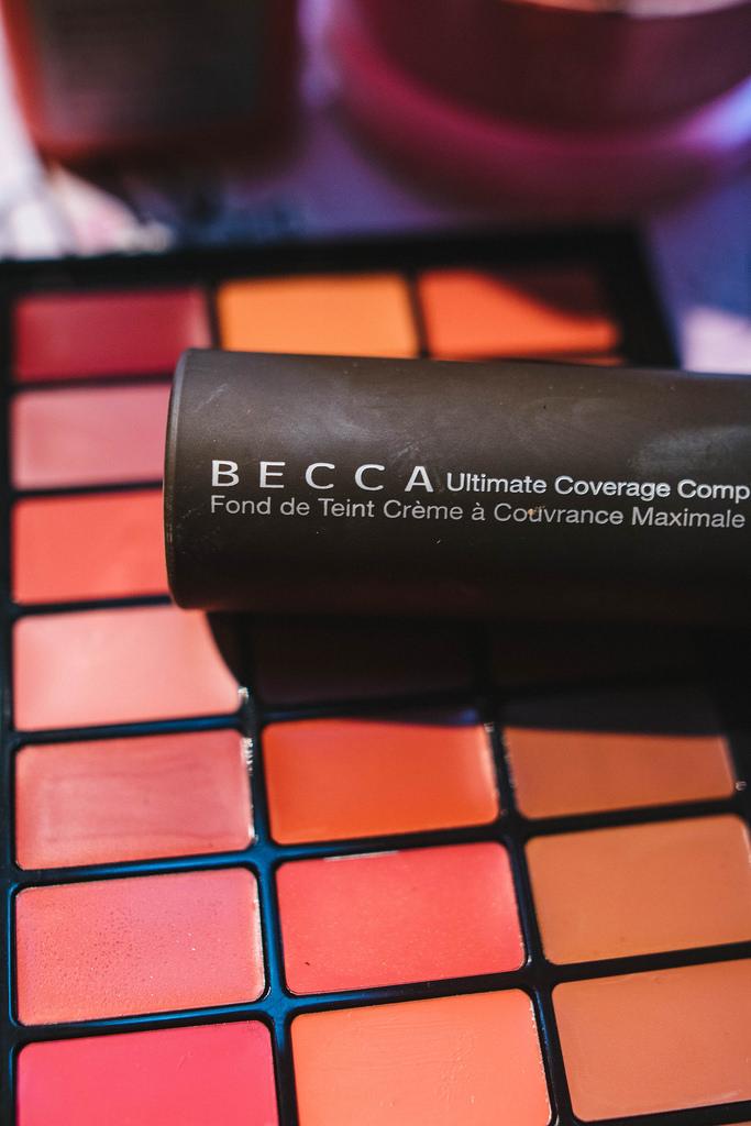 Becca Cosmetics  Ultimate Coverage Foundation  in Buttercup.