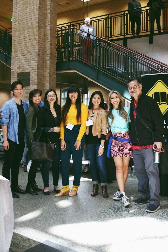 Panelists (L-R): Chris Jesu Lee, Sharon Tran, Marissa Rodriguez, Mekita Rivas, Fran Del Rosario, Eliza Romero, Gem Daus. CityLit Festival 2019.