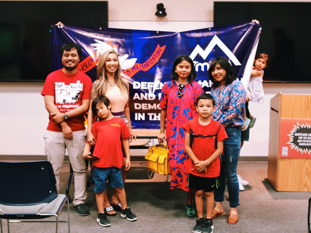 Malaya Movement kasamas and Gina Apostol.