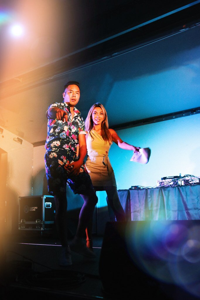 Danny Nguyen and I cohosted the Charm City Night Market festival again! Photo by Justin Kovalsky.