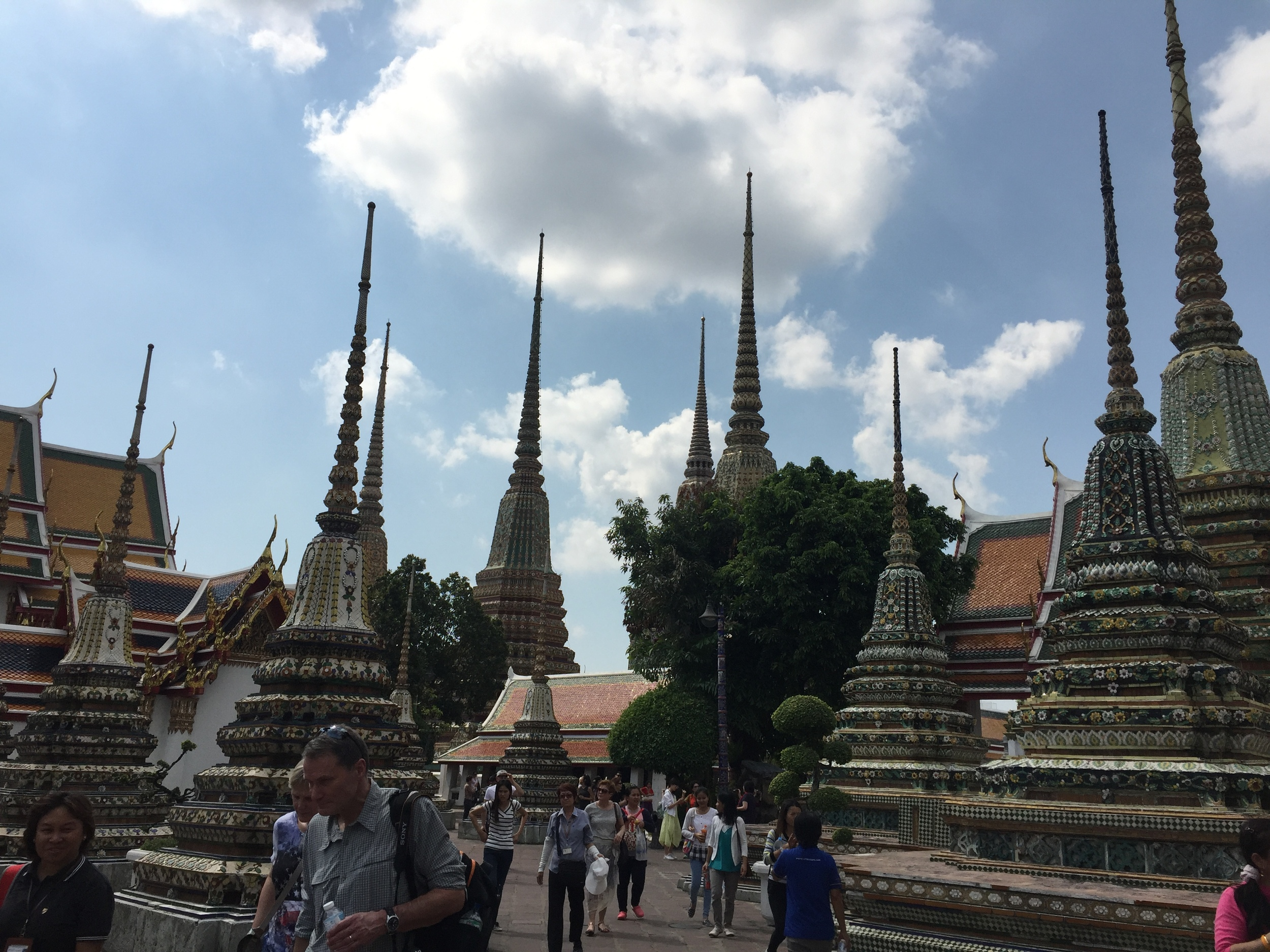 """These are stupas: """" a    monumental    pile    of    earth    or    other    material,    in    memory    of    Buddha  or    a    Buddhist    saint,    and    commemorating    some    event    or    marking    a  sacred    spot"""""""