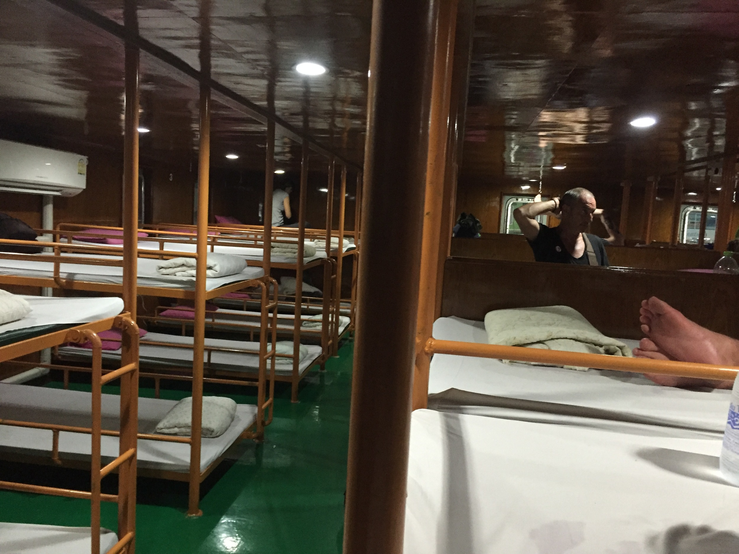 The inside of the night ferry from Koh Tao