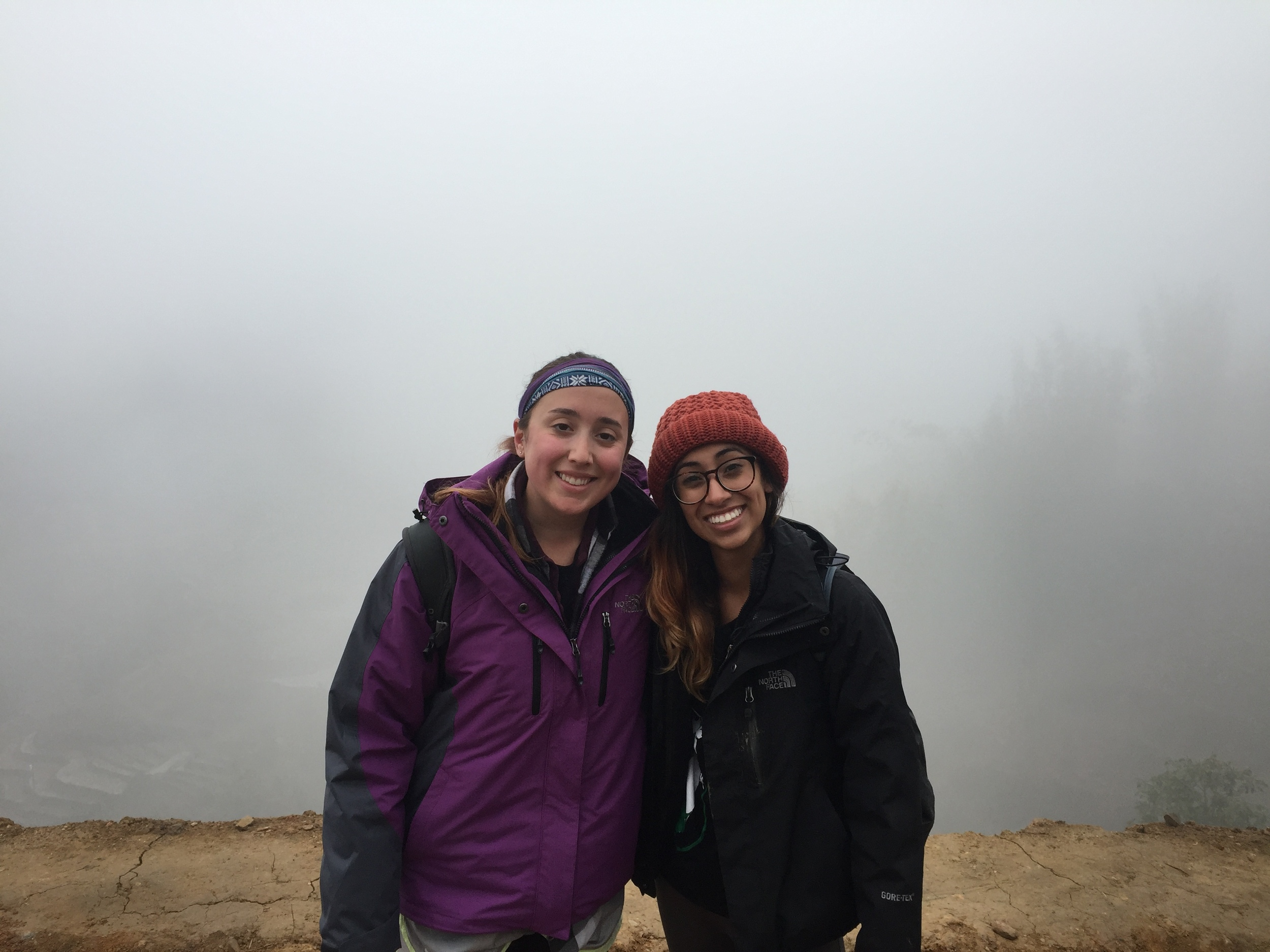 You can see the view behind us before the mist cleared