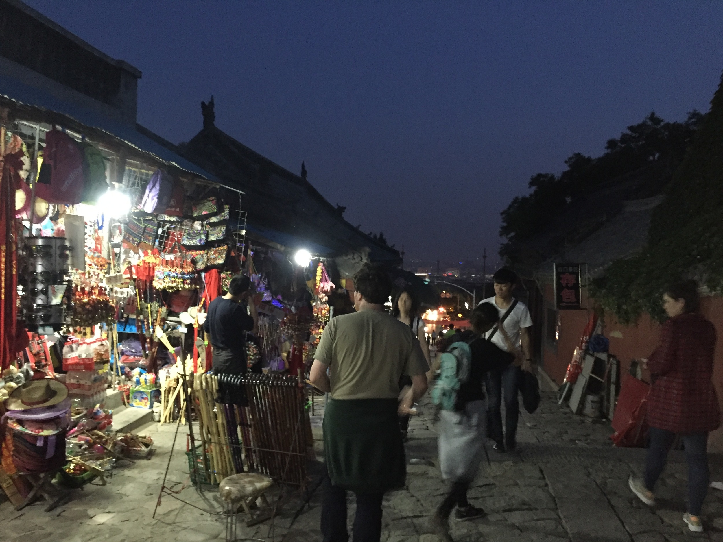 Vendors in the dark.
