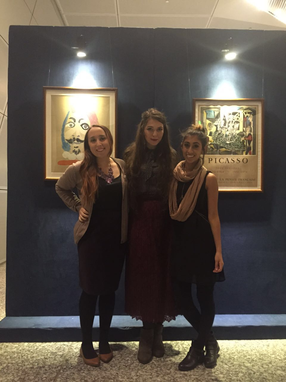 Picasso and Dali art exhibit.
