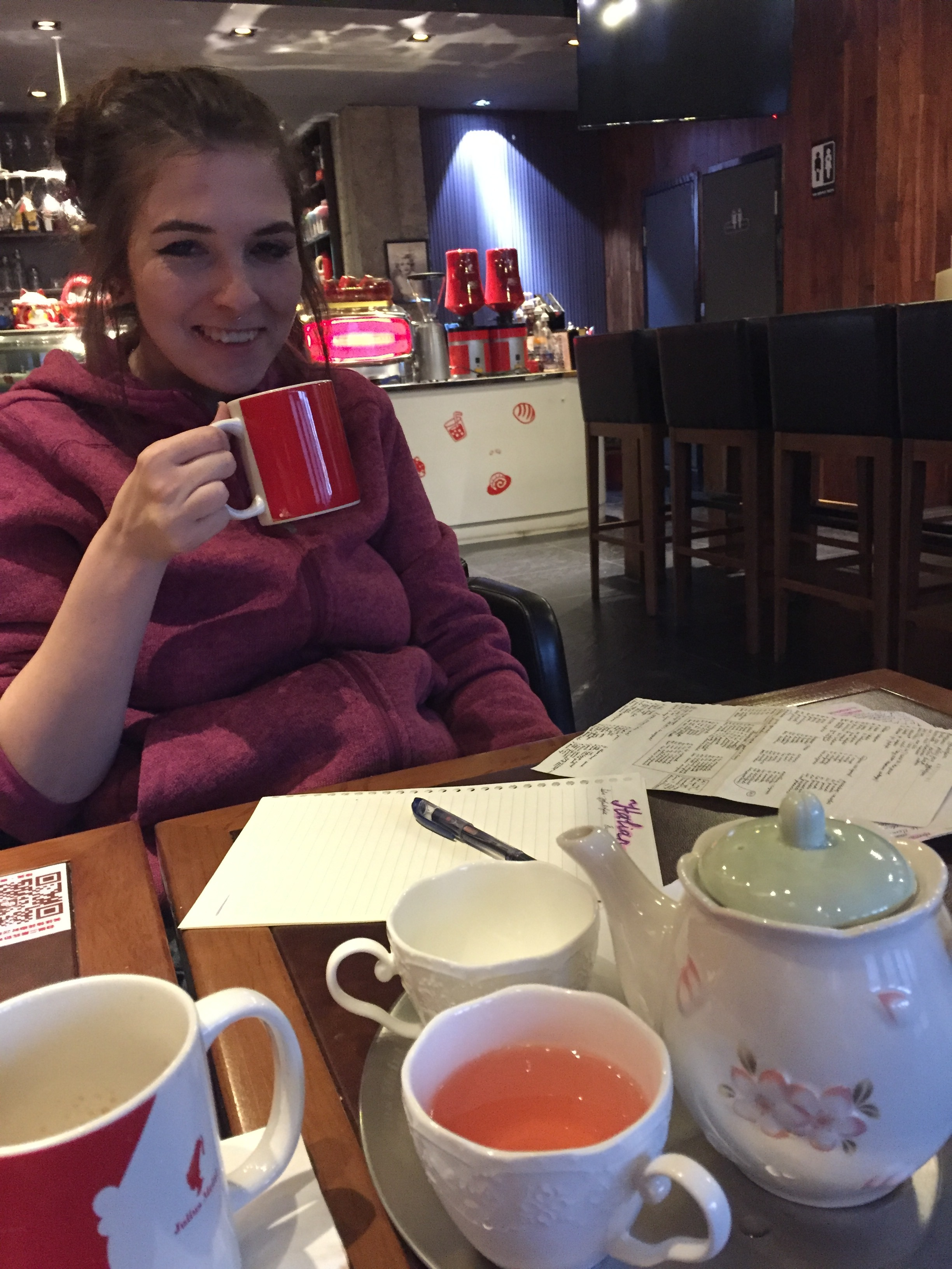 Coffee shop afternoons with this beut.