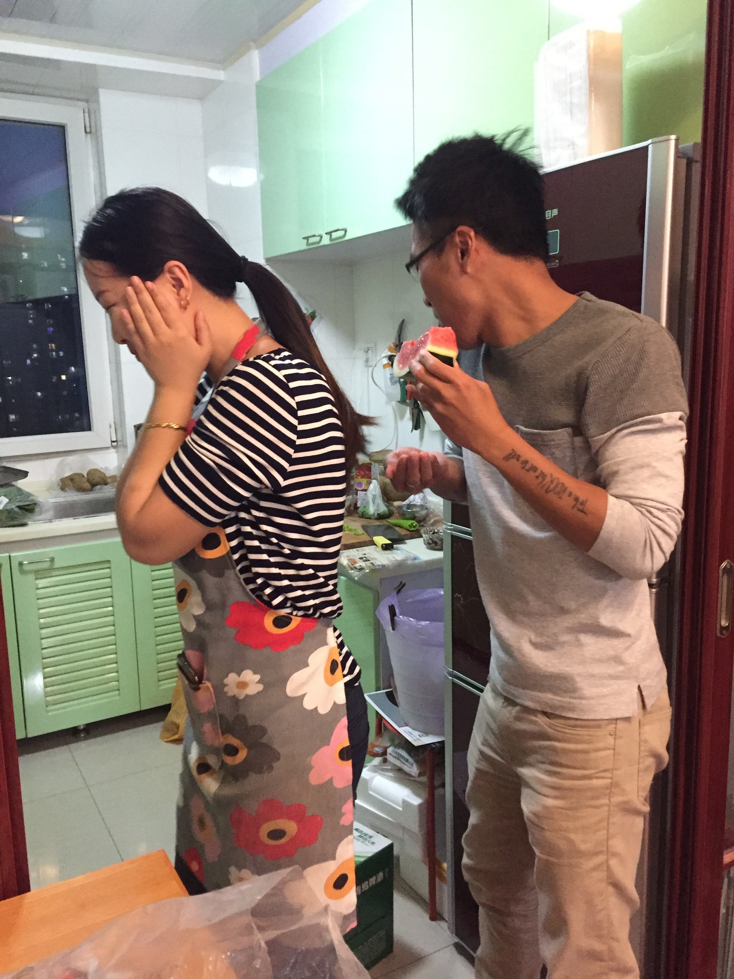 Meeting this new couple in Vietnam and discovering she lives in Dalian! And her being so sweet as to treat us to her fabulous cooking not once but twice.