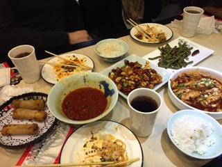 Szechuan meal.