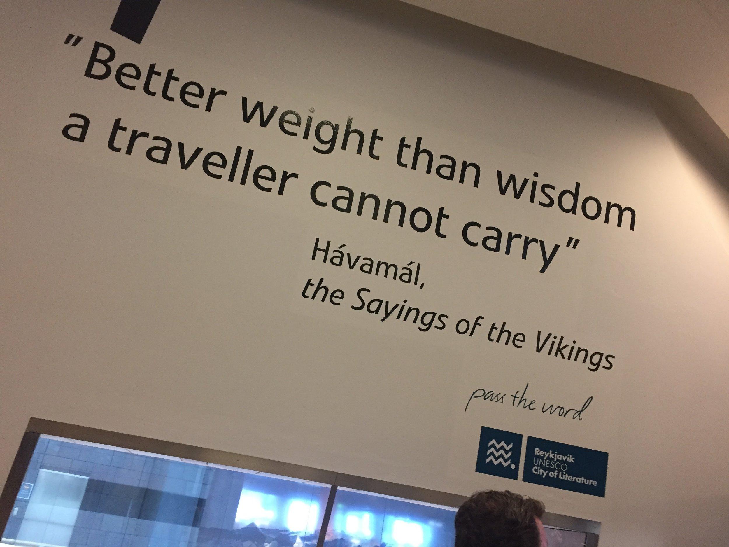 In Keflavik International Airport