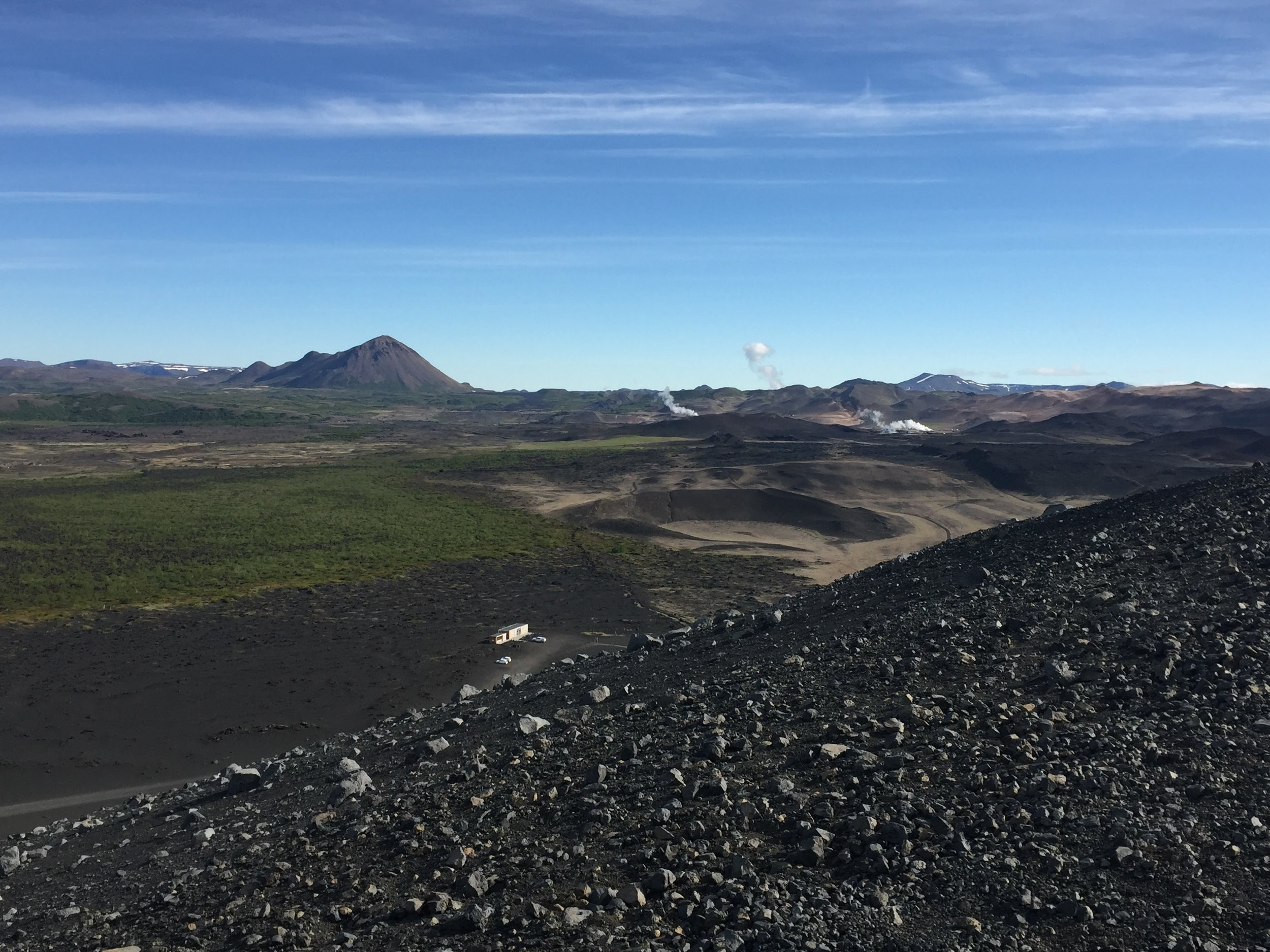Top of Hverfjall Crater