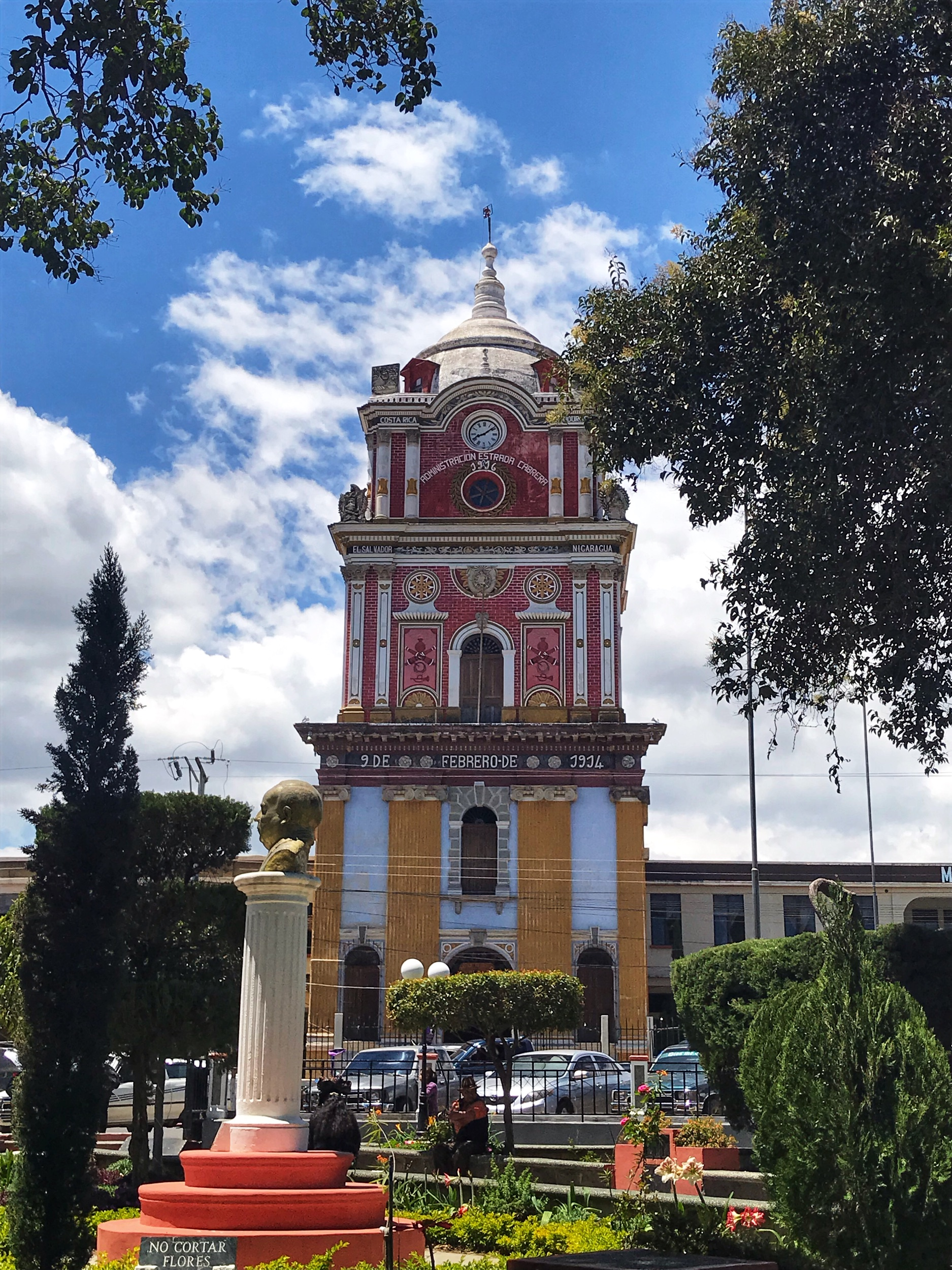 Centenario tower in Solola's central square