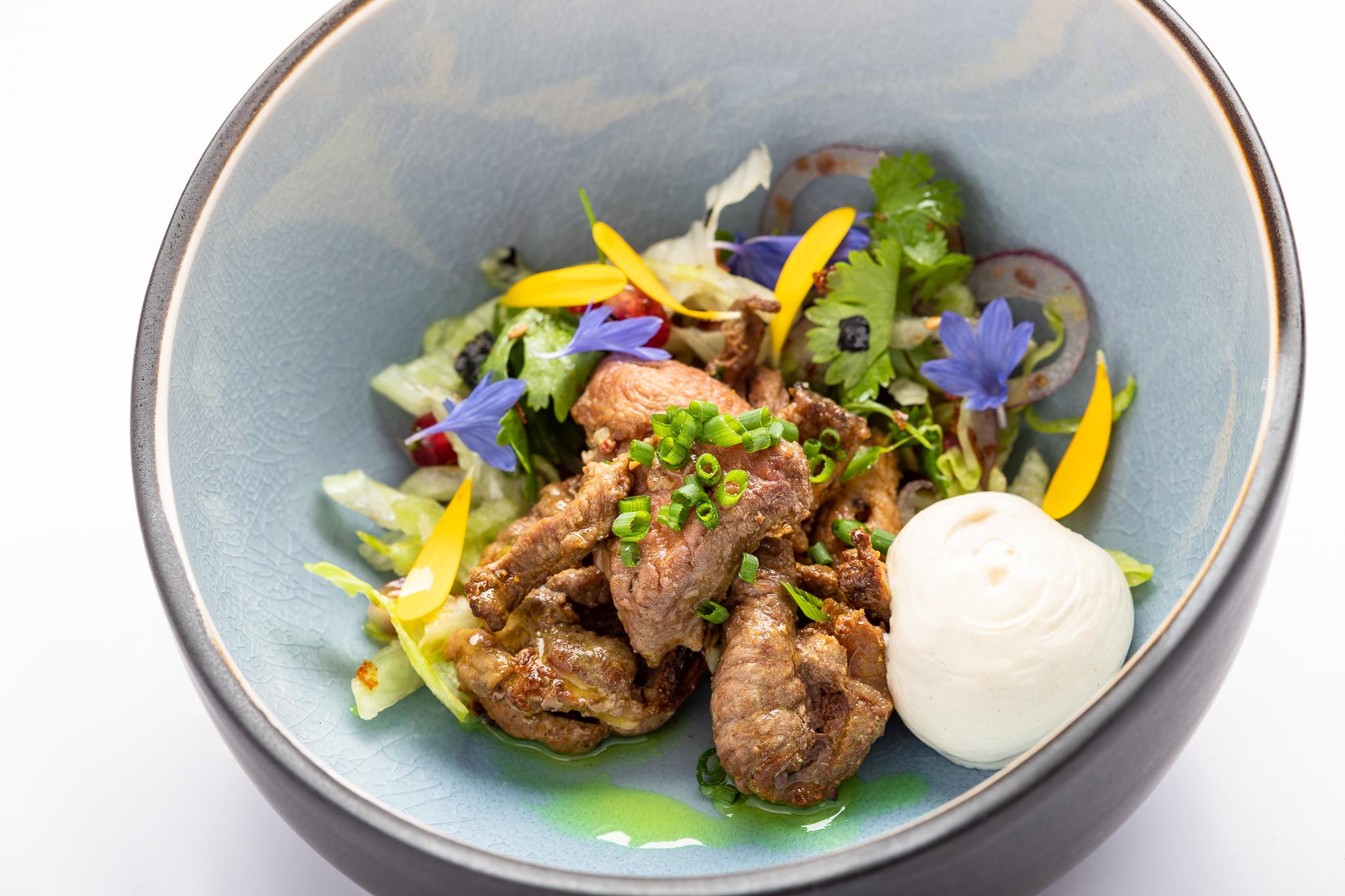 Hubert's famous kebab grilled lamb, yoghurt - GASTROBAR HUBERT